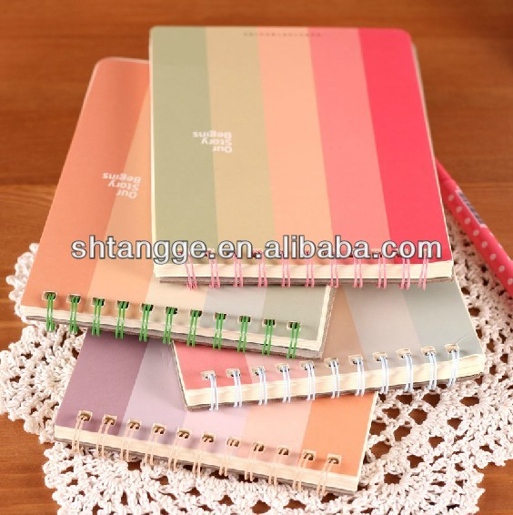 spiral notebook branded 2018 New Fashion with various colors