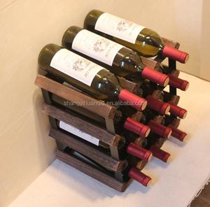 12 Bottles Wooden Color Wine Rack