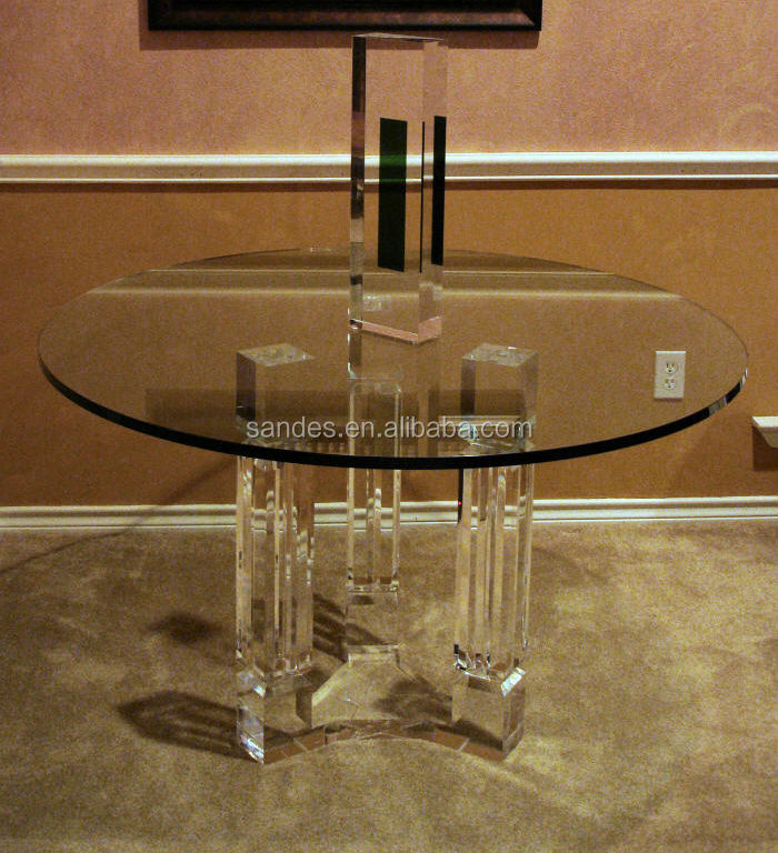 Acrylic Lucite Round Dining Table Acrylic Lucite Round Dining Table Suppliers And Manufacturers At Alibaba Com