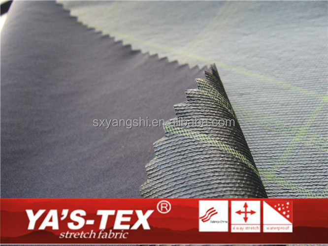 100% polyester knitting waterproof fabric with tpu film used for umbrella fabric