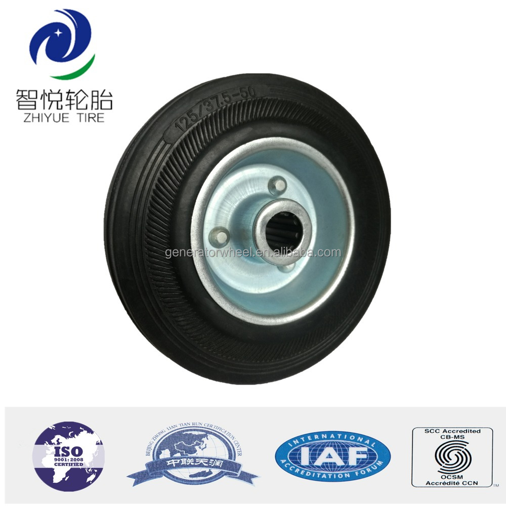 5 inch castor rubber wheels for shopping cart, trolley handle luggage, handcart