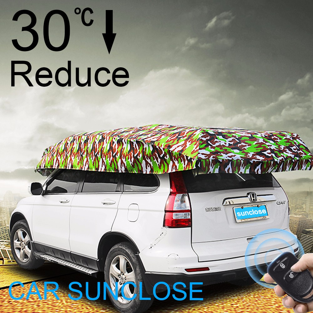 SUNCLOSE aluminum foil+ pp cotton 100% uv protection car cover designer windshield sun shade pop up motorcycle cover