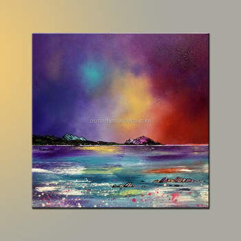 Famous Artist Handmade Midnight Magic Abstract Canvas Oil Painting ...