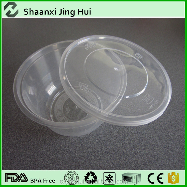 Clear disposable lid and bowls Promotion wholesale cheap take away soup bowl plastic soup bowl