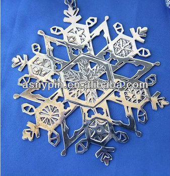 Christmas Snowflake Ornaments Metal Cut Out Tags Engraved ...