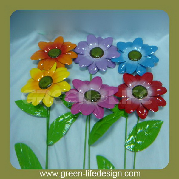 Metal Flower Garden Stakes, Metal Flower Garden Stakes Suppliers And  Manufacturers At Alibaba.com