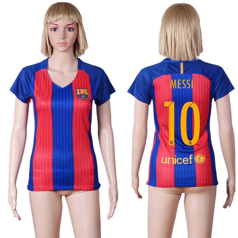 16b7e3d2b0b Get Quotations · 2016-2017 Barcelona Home Women  10 Messi Jersey Women s  Soccer Jersey