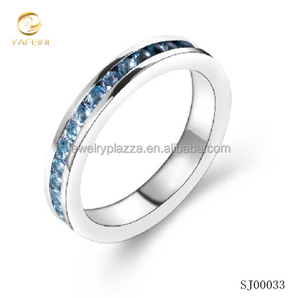 Blue 925 italian silver ring for men and women hot sales in global markets