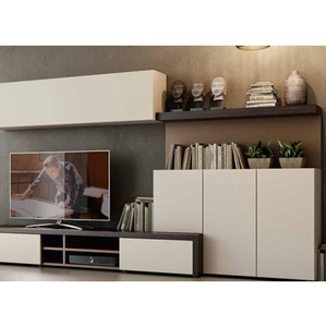 Home Furniture Simple New Design Laminate Tv Cabinet With Showcase