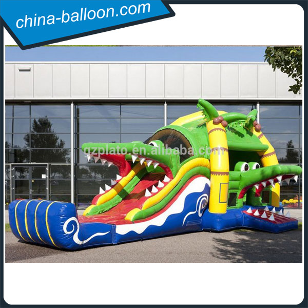 Castle children jump bed , large outdoor inflatable shark slide for sale