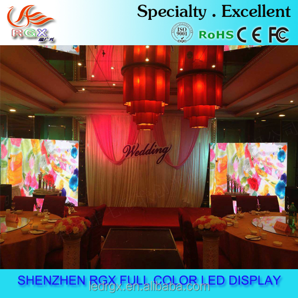 P4 Die cast rental Aluminium Indoor LED cabinet display for wedding party