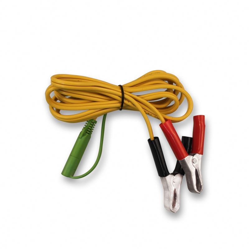 Solar cable sae plug to black+red alligator clip cable crocodile clip wire for car using