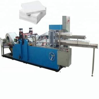 fully automatic 2 colors 1/4 folding napkin paper Making Machinery