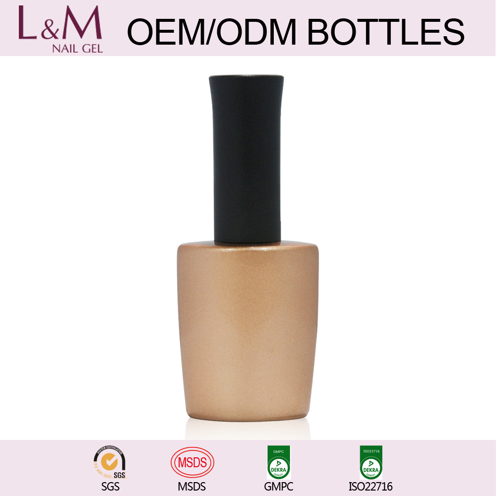 L&M 2017 OEM Service UV Gel Gel Nail Polish Empty Bottles for Nail Gel