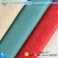 China supplier fashion design emboseed synthetic leather for furniture