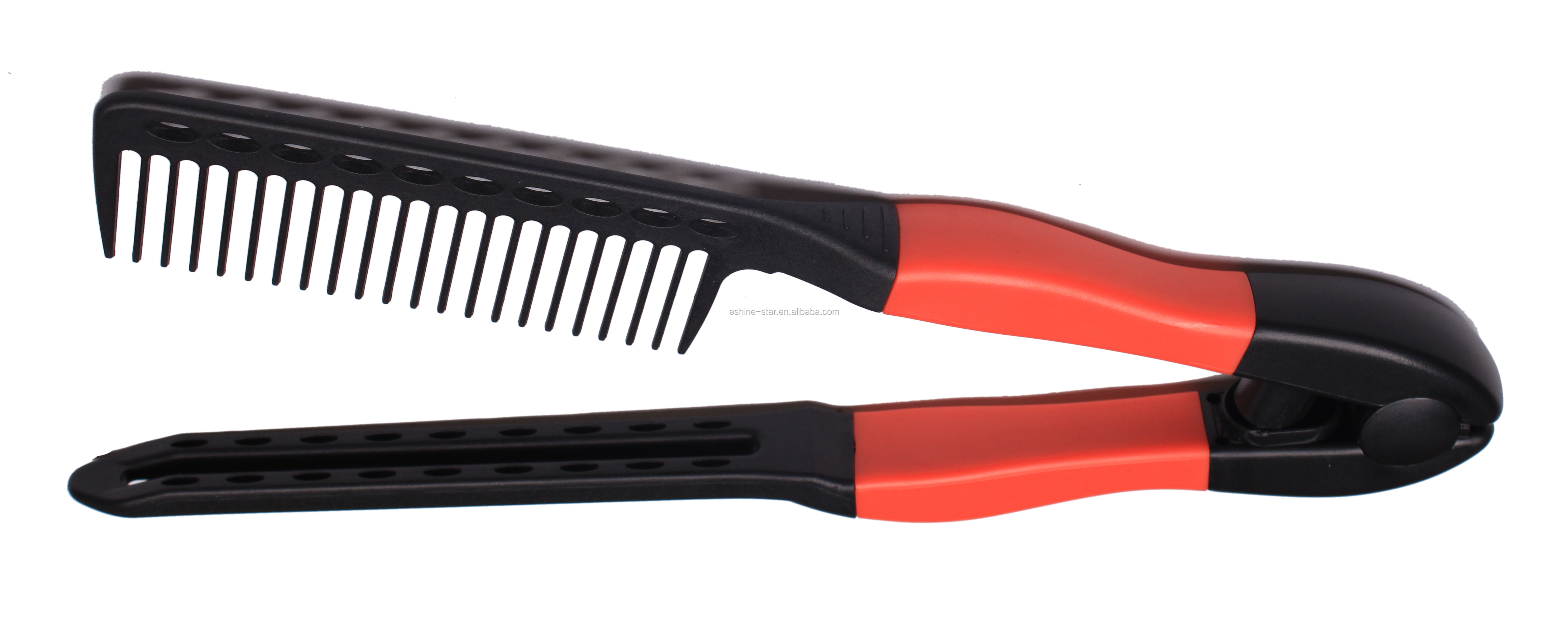 Professional hair salon use heat resistance easy comb hair straightening comb