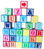Ez1004 Factory Price 122 Pieces Abc Blocks Creative Wooden Toys In ...