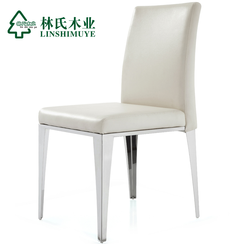 stainless steel dining room chairs | Lin-Wood-Leather-dining-chairs-modern-minimalist-stainless ...