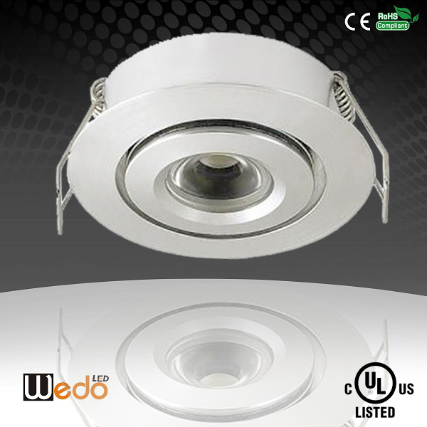 3w UL cUL Certified LED Downlight, 150lm 12v Downlight Recessed Under Cabinet Led Lighting
