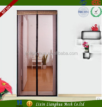 Magnetic Soft Door Screen   Heavy Duty Mesh U0026 Adhesive Vel  Cro Tape Fits  Doors