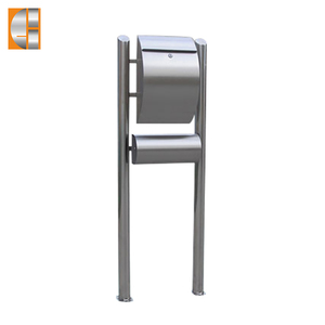 GH-1314R1U1 stainless steel free standing mailbox