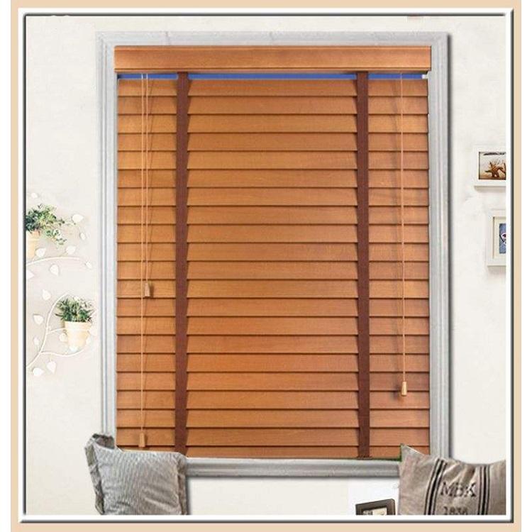 Natural venetian wood slats / pvc Blinds