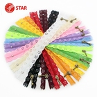 Nylon Coil Beautiful Lace Zippers For DIY Bag Tailor Sewer Craft Retail