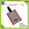 Aircraft Airlines rubber PVC ariplane luggage tag