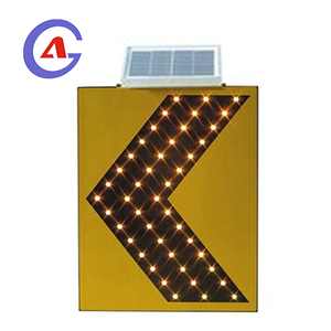 solar powered arrow direction sign chevron road traffic led sign