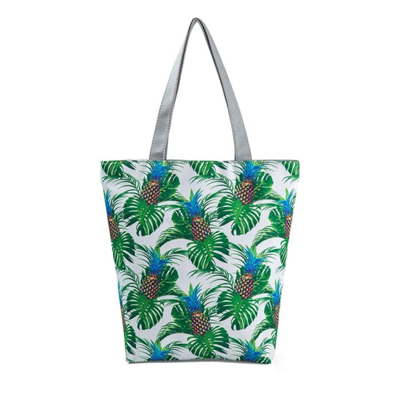 Women Bag,National Wind Printed Canvas Tote Casual Beach Bags Shopping Bag Handbags