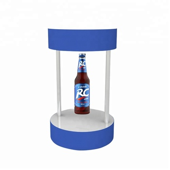Acrylic Beer Display Magnetic Levitating Wine Display With Custom Logo