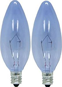 GE Lighting Reveal 48700 25-Watt, 150-Lumen Blunt Tip Light Bulb with Candelabra Base, 2-Pack Style: 25W; 150-lmns Size: 2-Pack Model: 48700 (Hardware & Tools Store)