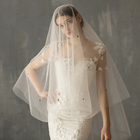 V636 New Stars Style party vintage bride hijab sex cathedral bridal wedding veils and accessories