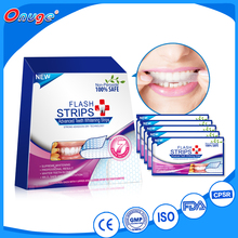 Private Label Perossido Teeth Whitening Strisce, Dental Whitestrips