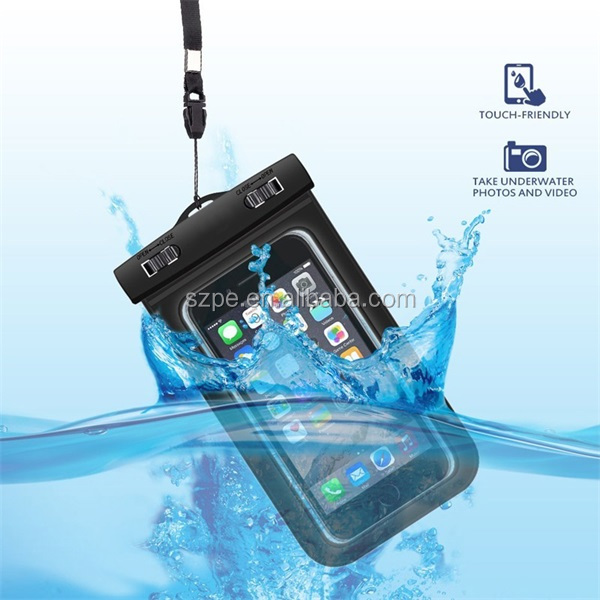 6inch universal pvc waterproof phone bag for iphone