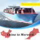 Container transportation shipping services to Morocco sea logistics services from Ningbo to Casablanca