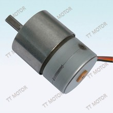 GM37-35BY micro stepping motor with 37mm gearbox 12v