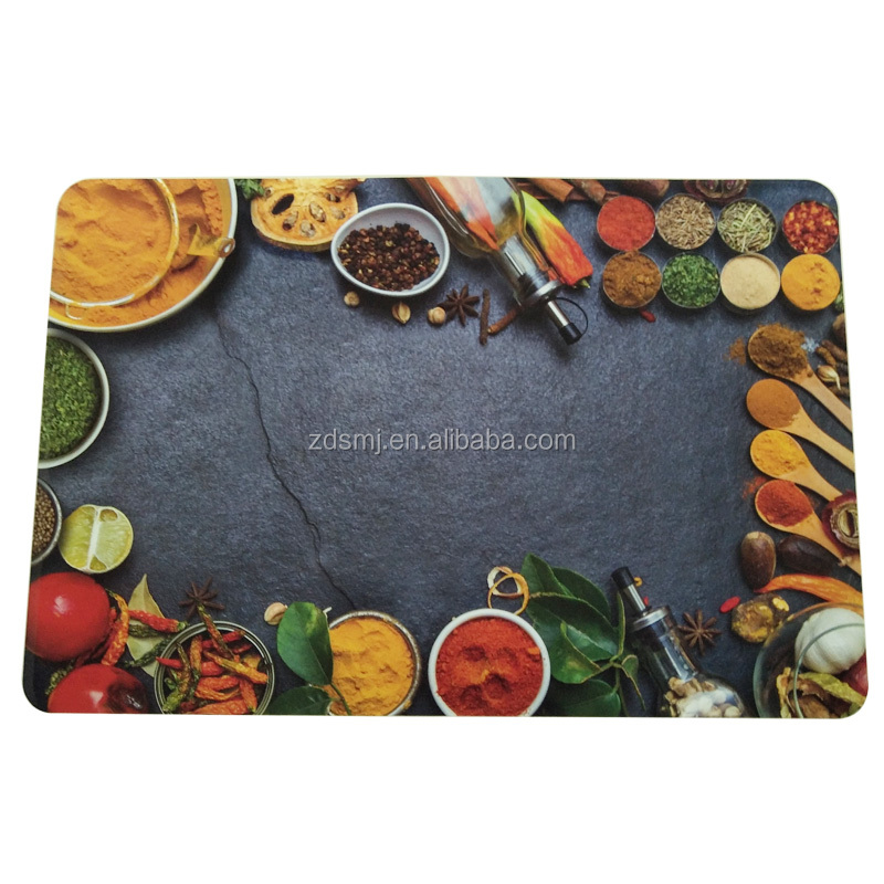 Customized printed home disposable placemats waterproof clear plastic mat,table mat,placemat