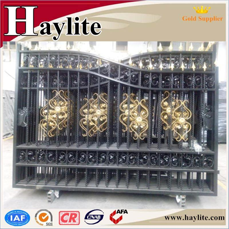 different types iron pipe gate grill designs