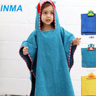 Cheap cute kids microfiber bathrobe,wholesale baby bathrobe, children bathrobes with animal hood
