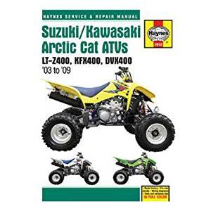 Suzuki/Kawasaki Artic Cat ATVs 2003 to 2009