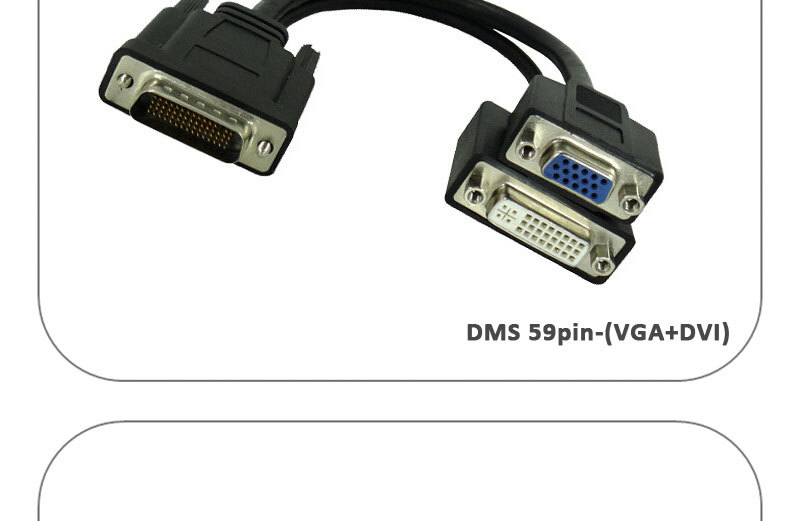 Dms 59 Male To 2 Dual Link Dvi I 24 5 Pin Splitter Adapter