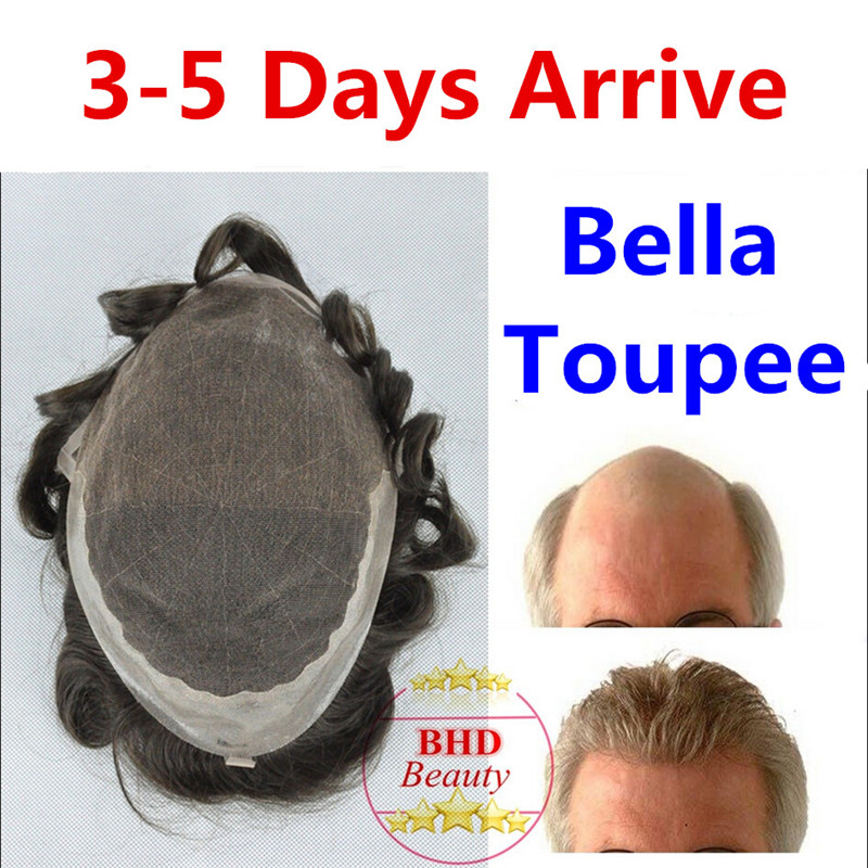 Toupee Bella 6 Slight Wave Medium Light Mens Hair Piece Toupee Best Quality
