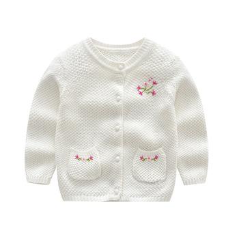 bb3faf2827dc European Styles Round Collar Free Knitted Kids Fancy Sweater Girls ...