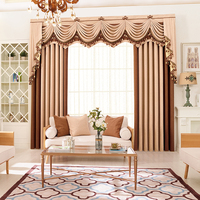 Polyester Cotton High Quality Hot sale luxury lurex polyester valance curtain fabric