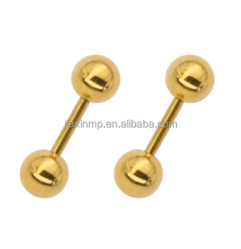 Piercing Body Jewelry Whole Delicate Small Ball Earrings Stud Boys Studs Threaded