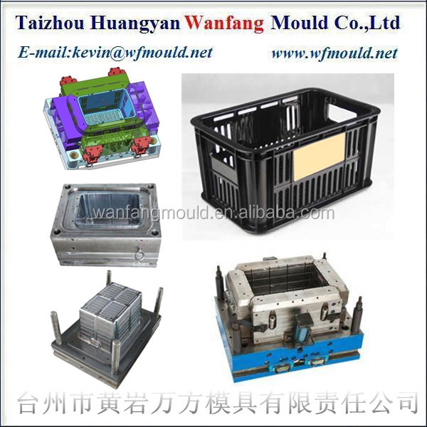 high quality plastic products fruitz&vegetable crate mould making
