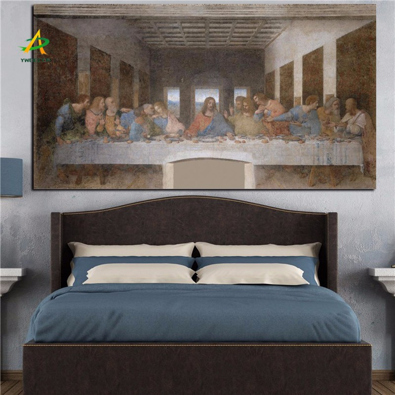 The Last Supper Wall Art famous picture the last supper canvas painting print on fabric