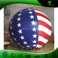 PVC Custom Inflatable Fly Ball,Flag Of The United States Ball With High Quality Logo Printing / Advertising Inflatable Balloon