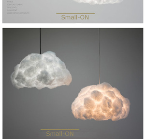 Modern art cloud pendant lights creative decorative for living room